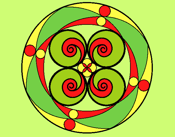 Coloring page Mandala 5 painted byLornaAnia
