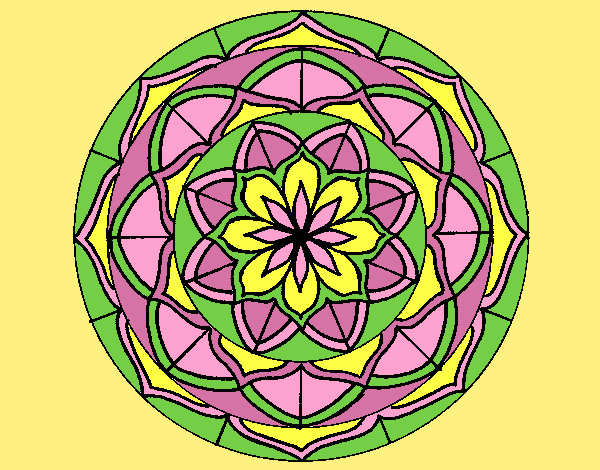 Coloring page Mandala 6 painted byLornaAnia