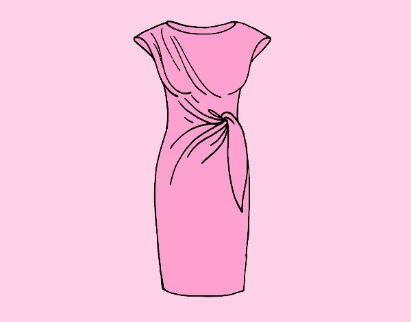 Coloring page Elegant dress painted byJessicaB