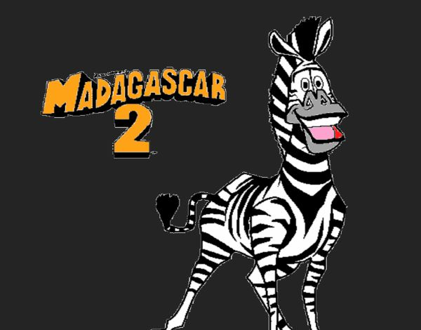 Marty Of Madagascar In Zebra Coloring Page : Kids Play Color di 2020 | 470x600