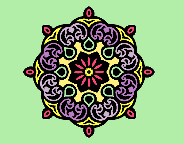 Coloring page Mandala cloud painted byLornaAnia