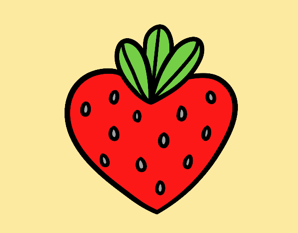 Coloring page Strawberry heart painted byJessicaB