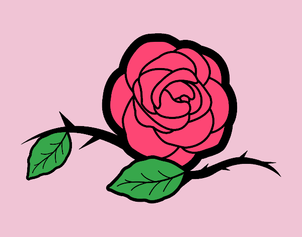 Coloring page A beautiful rose painted byJessicaB