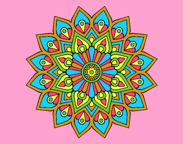 Coloring page Increasing flash mandala painted byJessicaB