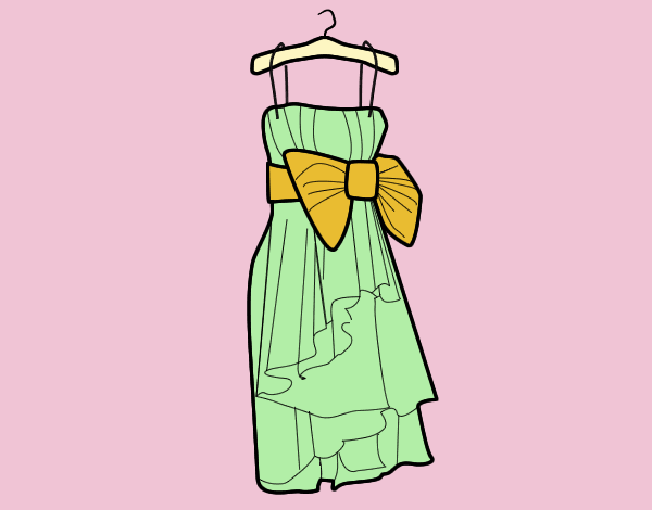 Coloring page Evening dress painted byLornaAnia