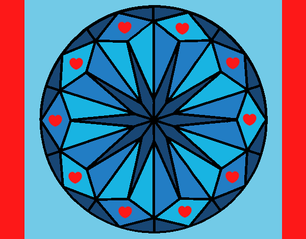 Coloring page Mandala 42 painted byLornaAnia