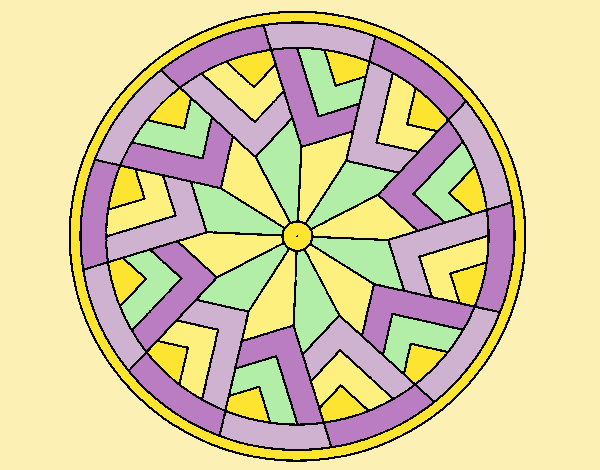 Coloring page Mandala 24 painted byLornaAnia