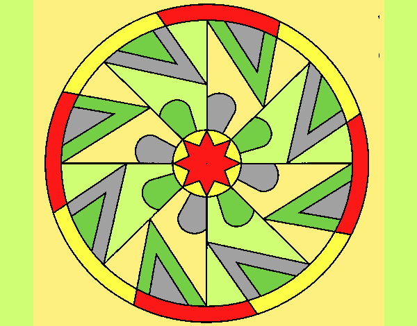 Coloring page Mandala 25 painted byLornaAnia