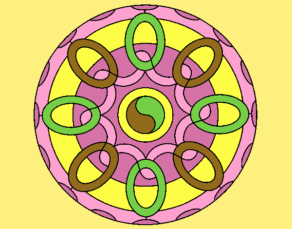 Coloring page Mandala 26 painted byLornaAnia
