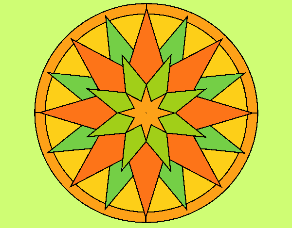 Coloring page Mandala 28 painted byLornaAnia