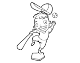 A baseball hitter coloring page