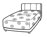 A bed coloring page