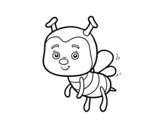 A bee coloring page