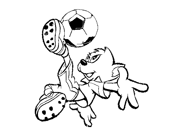 A bicycle kick coloring page