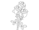 A bouquet of roses coloring page
