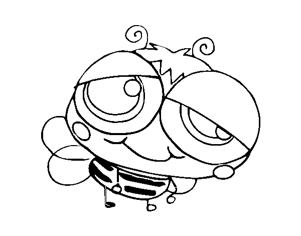 A bumblebee coloring page