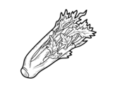 A celery coloring page