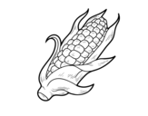 A corncob coloring page