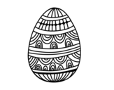 A decorated Easter Egg coloring page