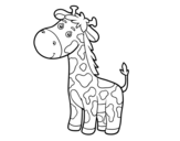 A giraffe coloring page