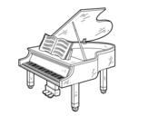 A grand piano open coloring page