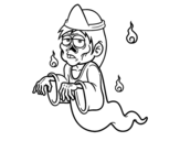 A japanese ghost coloring page