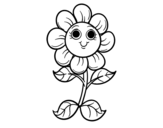 A little flower coloring page