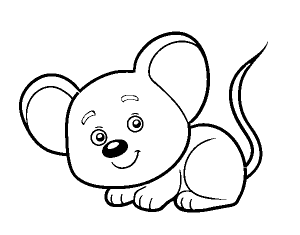 A little mouse coloring page