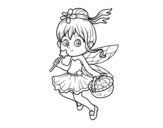 A magic fairy coloring page