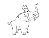 A Mammoth coloring page