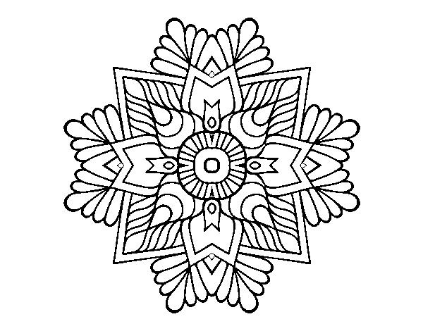 A mosaic mandala coloring page - Coloringcrew.com