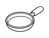 A paella coloring page