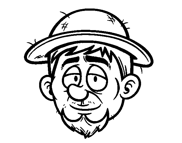 A peasant coloring page