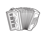 A piano accordion coloring page