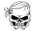 A pirate skull coloring page