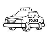 A police car coloring page