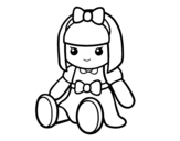 A pretty rag doll coloring page