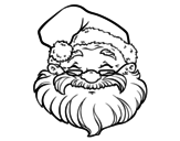 A Santa Claus face coloring page