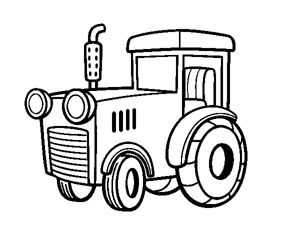 A tractor coloring page