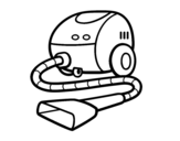 A vacuum cleaner coloring page