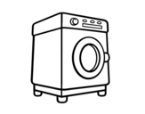 A washing machine coloring page