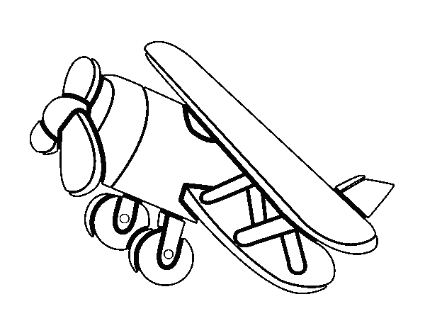 Acrobatic airplane coloring page