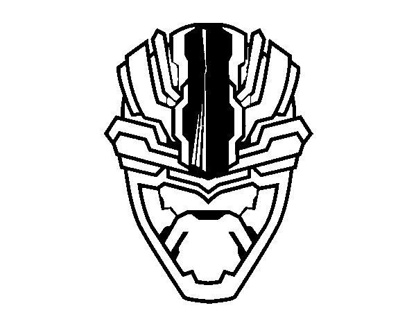 Alien mask coloring page