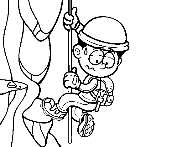 Alpinist coloring page