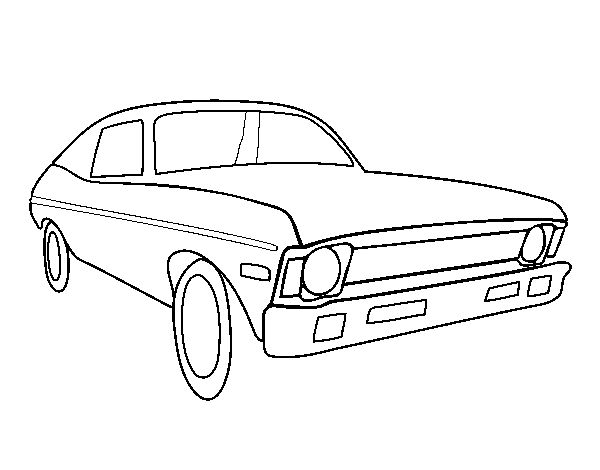 American car coloring page