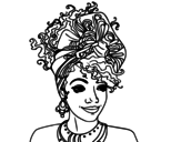 An African woman coloring page