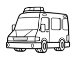An ambulance coloring page