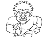 An american football player coloring page