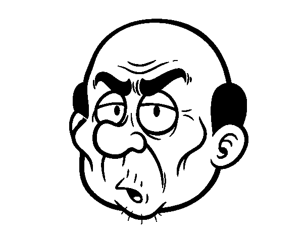 Angry sir face coloring page