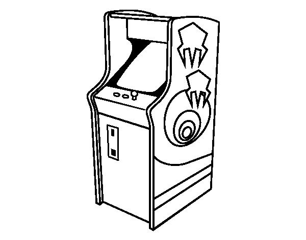Arcade coloring page - Coloringcrew.com